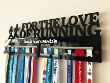Medal Holder Hanger Wall Display Running Sport Marathon Personalised Name