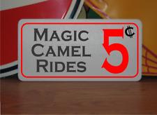 Magic Camel Rides 5 cents Metal Sign