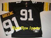 KEVIN GREENE Pittsburgh STEELERS Home Black NFL Premier THROWBACK Jersey S-XXL