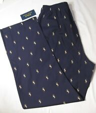 Polo Ralph Lauren Men's Pajama Lounge Pants NWT Navy 100%25 Cotton