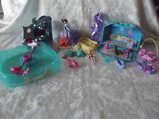 Polly Pocket Mermaid House With Ocean Sea Pets, Dolls, Seahorse & Accessories