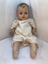Vtg Antique Beau Composition Girl Doll Soft Body Sleepy Eyes Teeth 21� Tall