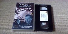 A NIGHT TO REMEMBER (1958) UK VHS PAL VIDEO 1992 Kenneth More HMS Titanic