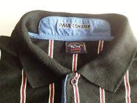 Paul Shark Yachting Polo-Shirt Herren Kurzarm Schwarz Gestreift Gr. L
