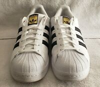 Adidas Originals Men's Superstar Sneaker - White/Black/Gold NEW 11.5