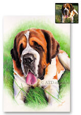 Pet portrait from photograph -A4- Hand painted/hand drawn - pencils, watercolour