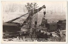 Wreck Of Canadian Pacific Freight Richford VT,Aug 16,1942 Vintage RPPC #3