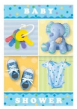 Amscan Teeny Tiny Boy NEW BABY SHOWER Party Invitations With Envelopes 8 Pack