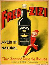 Fred-zizi Aperitif Metal Sign FREE SHIPPING French Bar Decor