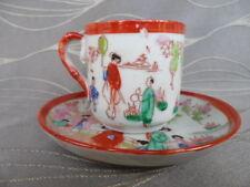 Antique Demitasse Geisha Cup and Saucer