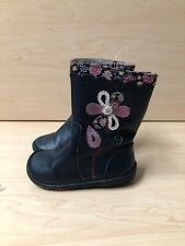 Pediped  leather upper boots toddler girls size 7 blue navy