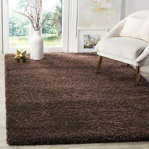 New Modern Area Rug Brown Micro Silk 6 x 9 Feet Fast Ship