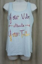 Belle Du Jour Juniors Top Sz M Grey Sleeveless Casual Graphic Print Tank