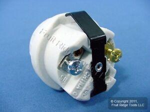 Leviton Snap-In Medium Base Porcelain Incandescent Lamp Holder Light Socket 8875