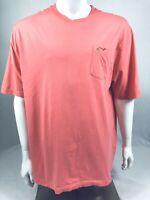 Greg Norman Crew Neck Pullover Short Sleeve Pocket T-Shirt Mens Size XXL Pink