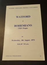 Watford v Bohemians Friendly Programme 04/08/71