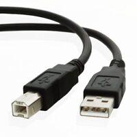 Hp Canon Lexmark USB Drucker Kabel A zu B Schwarz Abgeschirmtes Epson Kodak - 3M