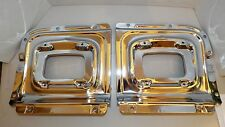 56 1956 CHEVY CHEVROLET NEW FRONT PARK LIGHT HOUSING TRIM PANELS CHROME