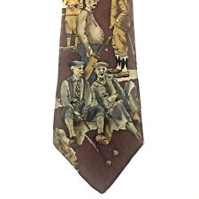 Men's OLD Geezers Golf Theme NECKTIE TANGO by MAX RAAB 100% Silk MADE in USA