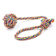 Puppy Dog Pet Chew Toy Braided Bone Ball Rope Color Chew Knot Random Color HOT