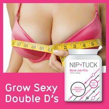 NIP & TUCK BOOBJOB PILLS BREAST ENHANCEMENT PILL INCREASE BOOBS BY 3 CUP SIZES
