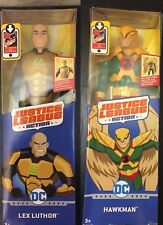 """DC Justice League Action Hawkman and Lex Luthor 12"""" PosableFigures New Sealed"""