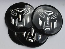 Transformers wheel hub caps badge emblème stickers 60mm set de 4 résine époxy