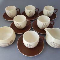 Retro Carlton Ware Australian Design Windswept Tea Set Cups Saucers Milk Sugar