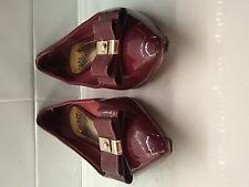Coach Wine colored Womens Shoe-Patent