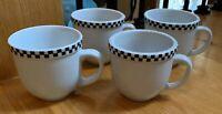 "Culinary Arts CAFEWARE Black Checks 3 1/2"" Mugs Set(s) of 4"