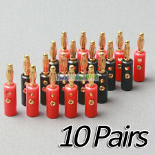 20 Pcs YP01 4mm Gold Plated Audio Speaker Wire Cable Screw Banana Plug Connector