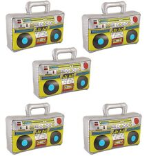 5  37cm Inflatable Boom Box Ghetto Blaster 70s 80s Fancy Dress Party Decorations