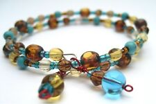 Bracelet Multi Layer bronze,& turquoise beads