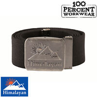 Mens Tough Black Belt with Metal Buckle Fastening Ideal For Work Trousers Pants