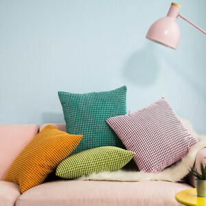 Soft Corduroy Solid Plush Cushion Cover Throw Pillow Case Home Sofa Bed Decor