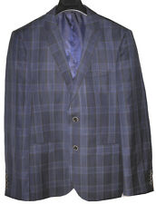ORIGINAL PENGUINGifts For Men Check Plaid Work Suit Jacket Blue 40 Regular