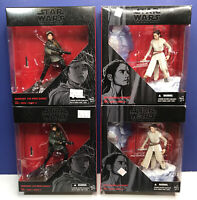 "Lot of 4: Star Wars The Black Series (2 Rey, 2 Jyn Erso) 2016 Hasbro 6"" Figures"