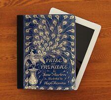 Pride & Prejudice Peacock First Ed. Book Jane Austen iPad Leather Suede Case