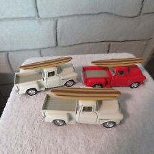1955 Chevy Stepside Pickup Truck Surfboard ,1:32 SCALE,DIECAST,LOT OF 3
