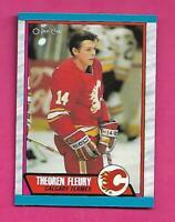 1989-90 OPC # 232 FLAMES THEO FLEURY  ROOKIE  NRMT-MT CARD (INV# C3297)