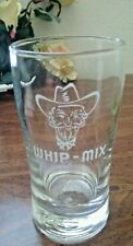 vintage WHIP MIX COWBOY Soda Drinking Glass Tumbler Libbey Weighted base