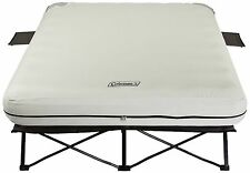 Coleman Queen Size AIRBED COT, Steel Frame Camping COT + Queen AIR MATTRESS NEW