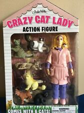 NEW NIB Accoutrements Crazy Cat Lady Action Figure w/ 6 Cats Funny Gag Gift Toy