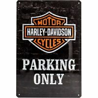 Tin Sign 20 x 30 cm - Harley Davidson Parking Only