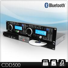 PROFI DJ STUDIO DOPPEL CD PLAYER DUAL USB MP3 MEDIA SPIELER RACK CONTROLLER NEU