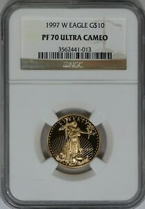 1997-W NGC $10 1/4 oz American Gold Eagle Proof PF70 Classic Brown Label