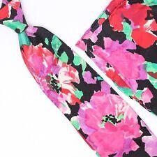Take 6 Kashani Mens Silk Necktie Pocket Square Matching Set Pink Floral Print