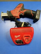 Milwaukee 2420-20 M12 Hackzall Reciprocating Saw W/ Battery, Charger.