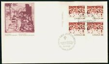 Canada Fdc 1984 Christmas Religious Block Holiday First Day Cover Wwh85987