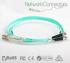 LC - ST OM3 Duplex Fibre Optic Cable (1M)